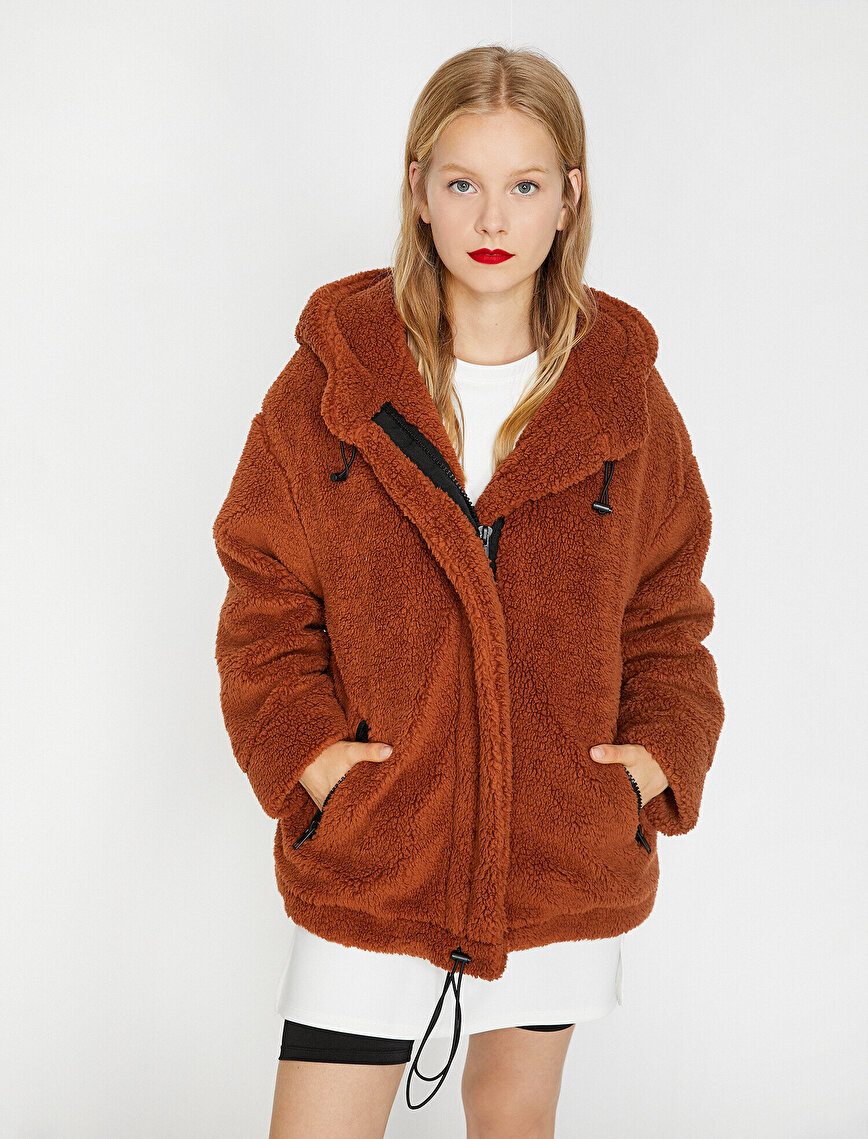 Hooded Plush Coat