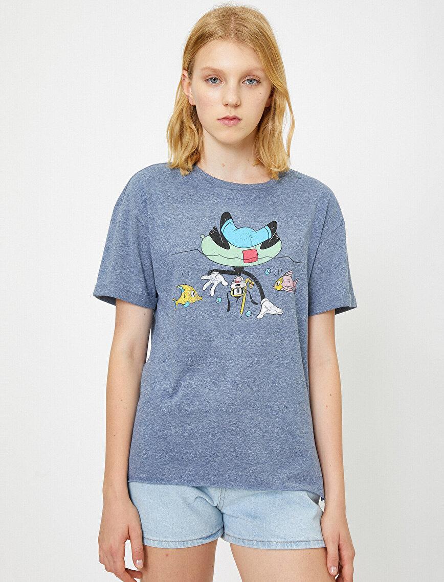 Disney Lisanslı Baskılı T-Shirt