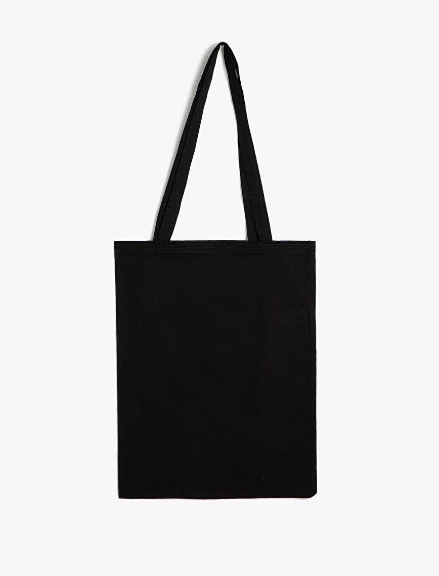 Yazılı Baskılı Bez Çanta