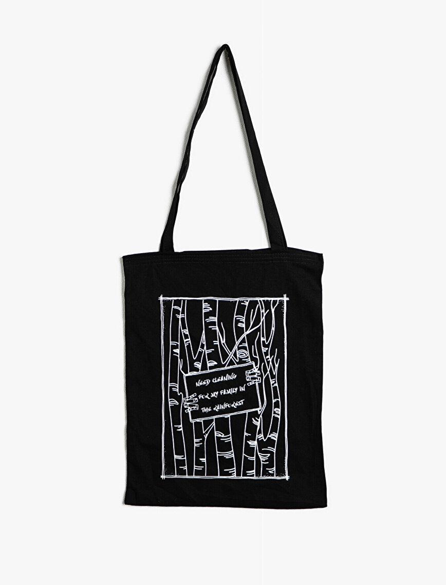 Yazılı Baskılı Çanta