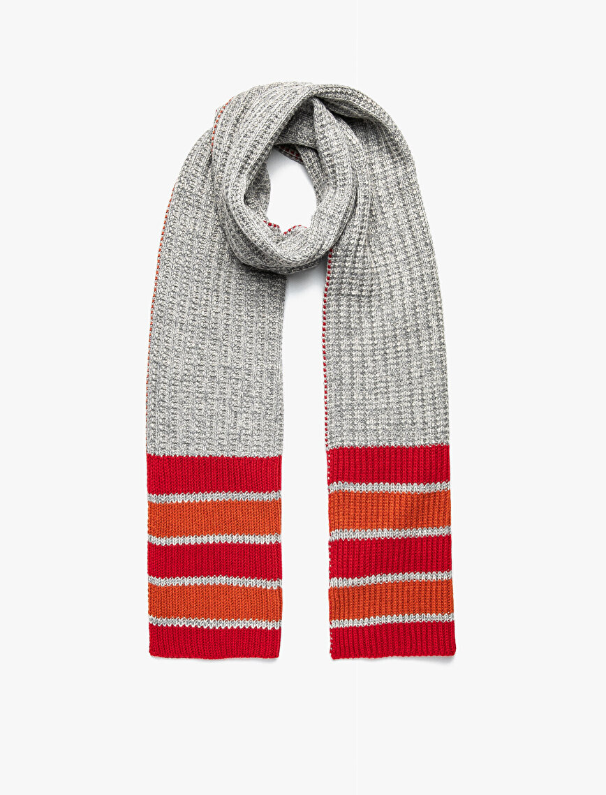Striped Detailed Scarf