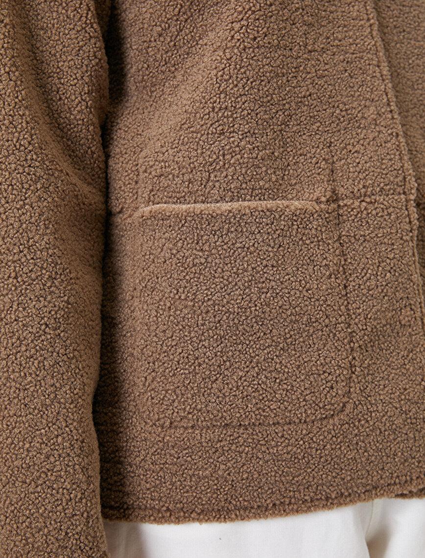 Pocket Detailed Plush Coat