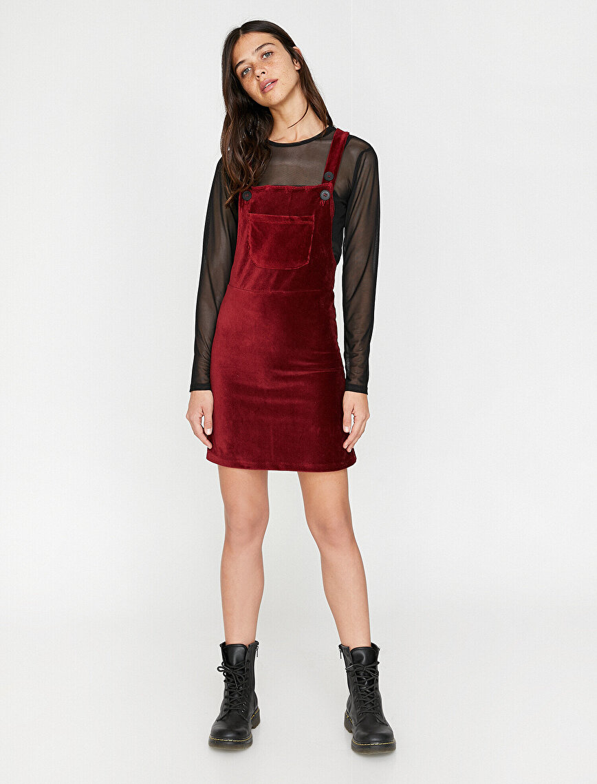 Kolsuz Kadife Elbise