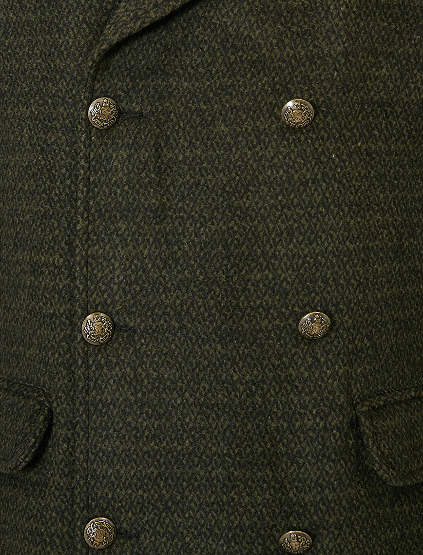 Button Detailed Coat