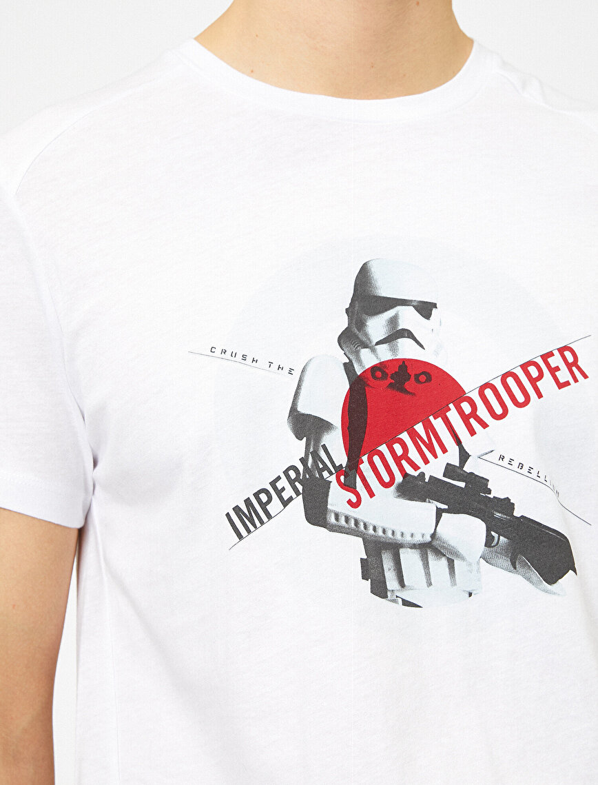 Star Wars Licenced Letter Printed T-Shirt
