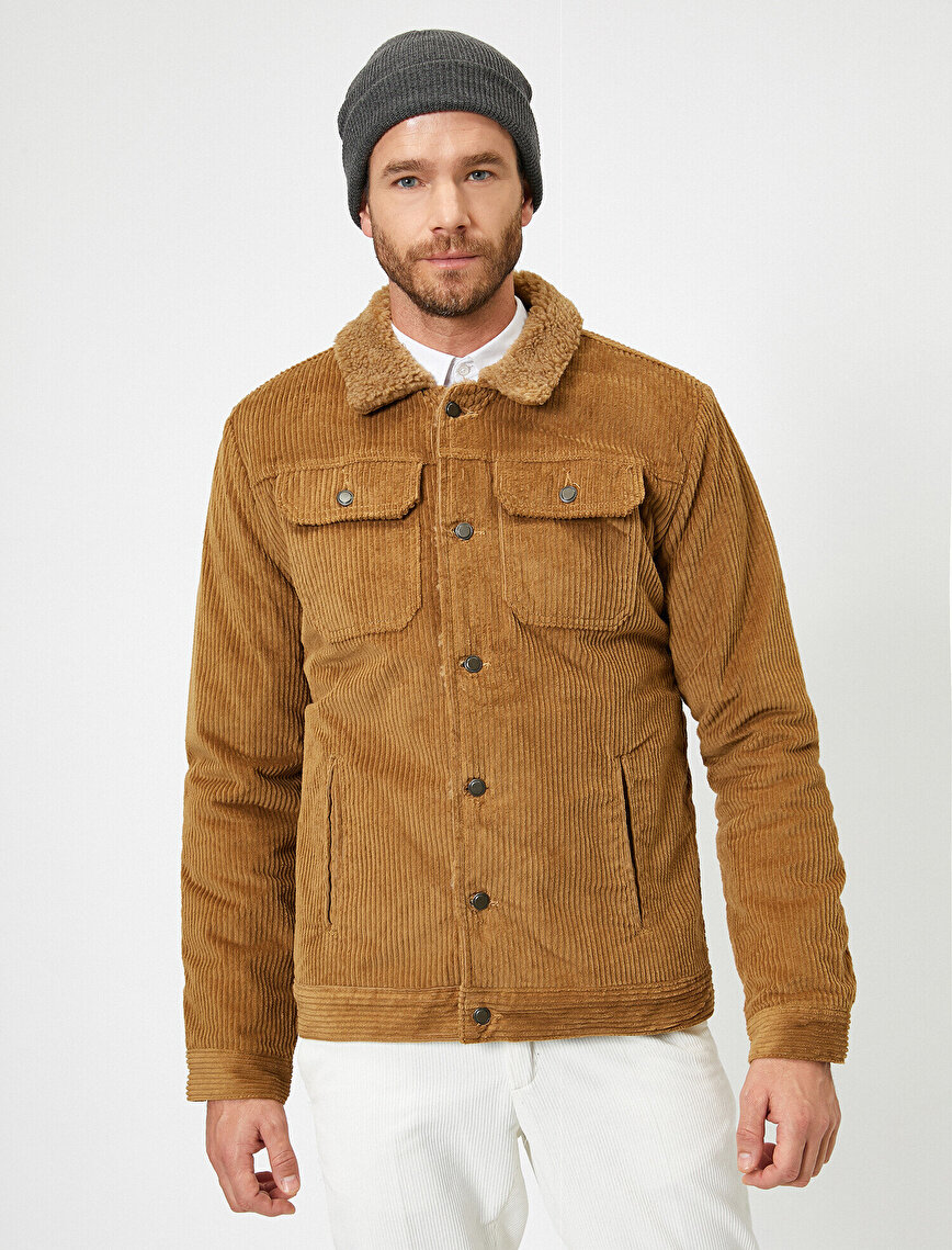 Faur Fux Detailed Valvet Coat