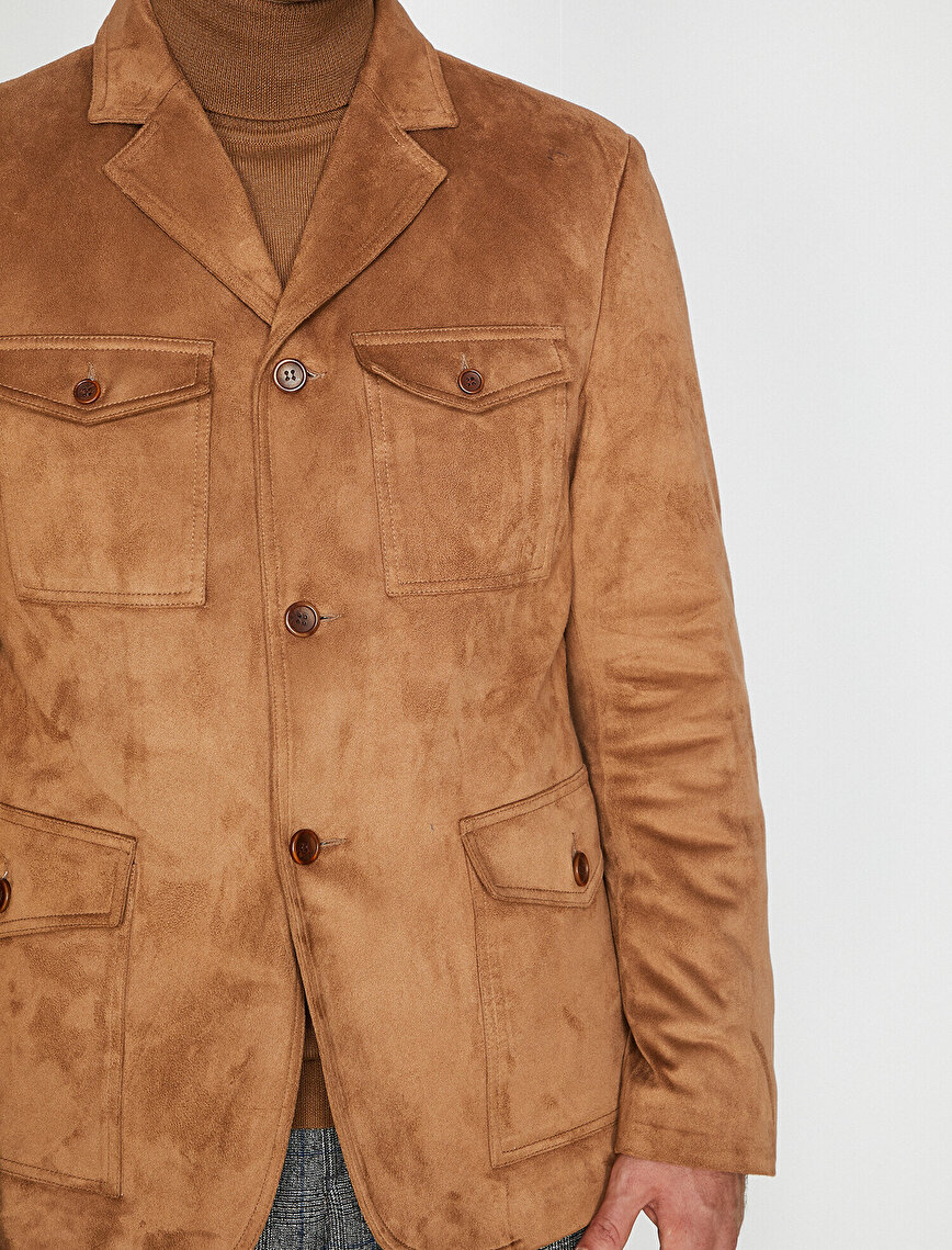 Suede Look Coat