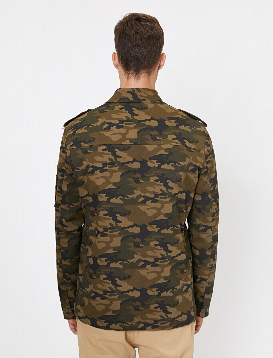 Camouflage Patterned Coat