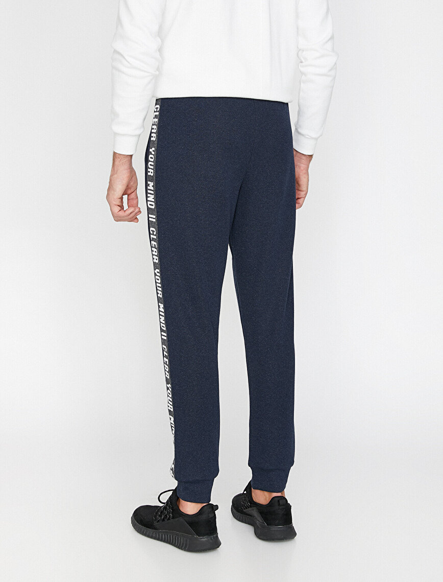 Letter Printed Jogging Pants