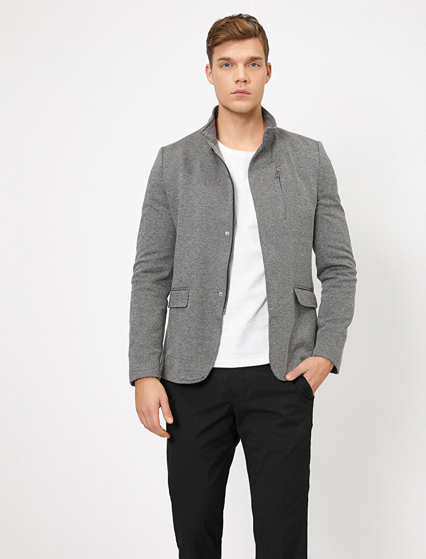 Zipper Detailed Jacket