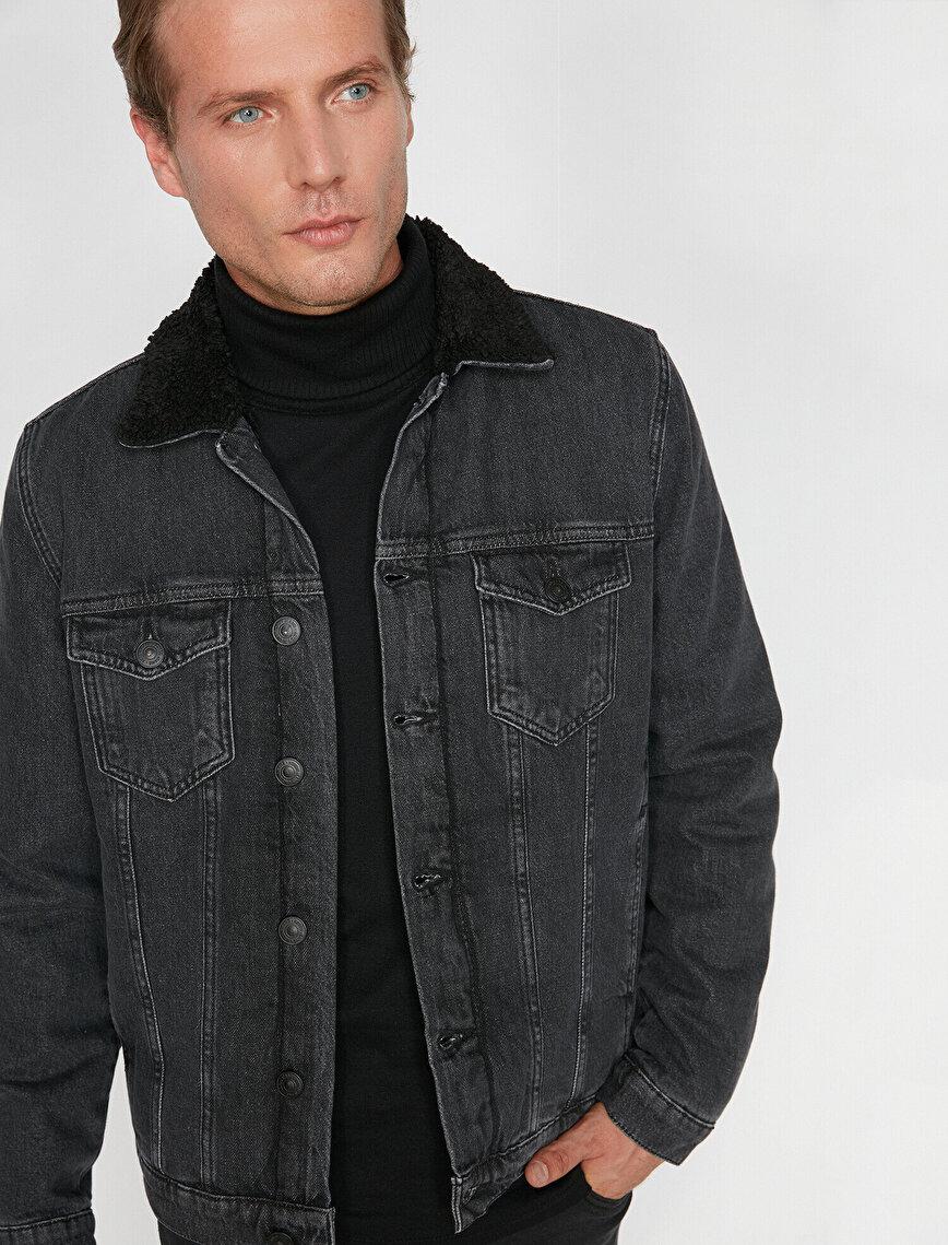 Faur Fux Neck Jean Coat