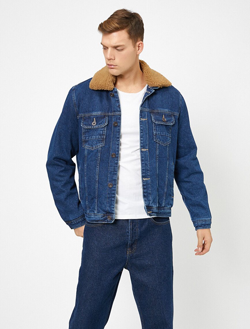 Classic Neck Jean Jacket
