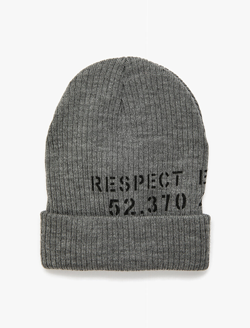Letter Printed Beanie