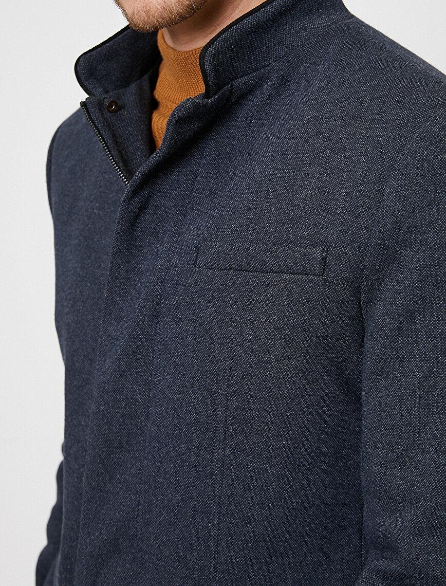 Zipper Detailed Jacket
