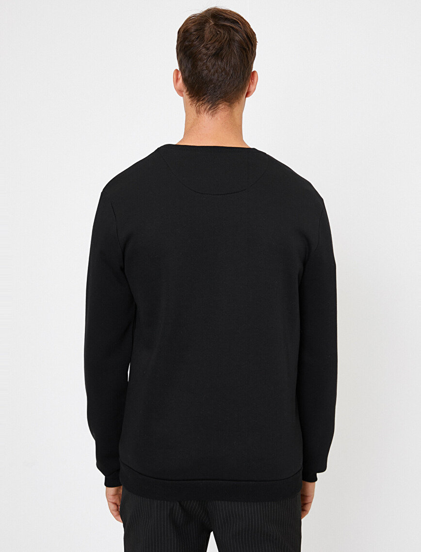 Cep Detaylı Sweatshirt