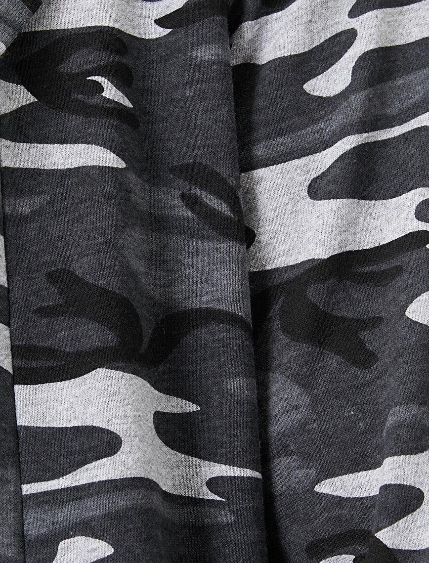 Camouflage Patterned Cardıgan