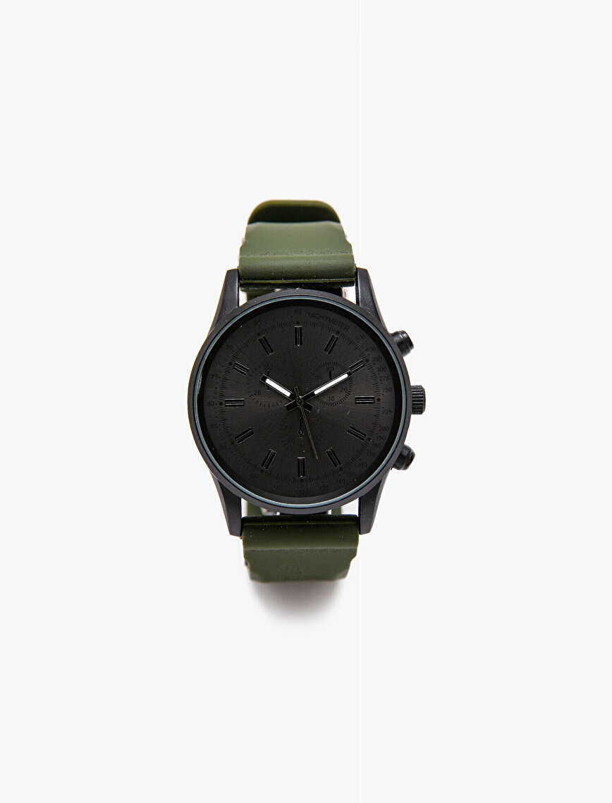 Faux Leather Watch
