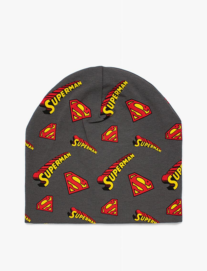 Superman Baskılı Bere