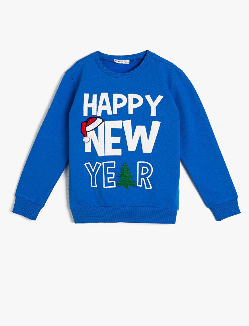 New Year Printed Sweatshirt