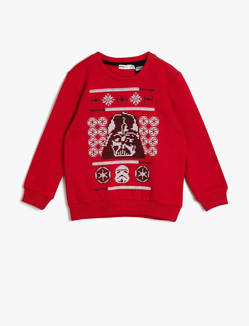 Star Wars Lisanslı Baskılı Sweatshirt