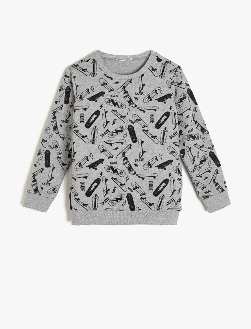 Patterned Sweatshirt