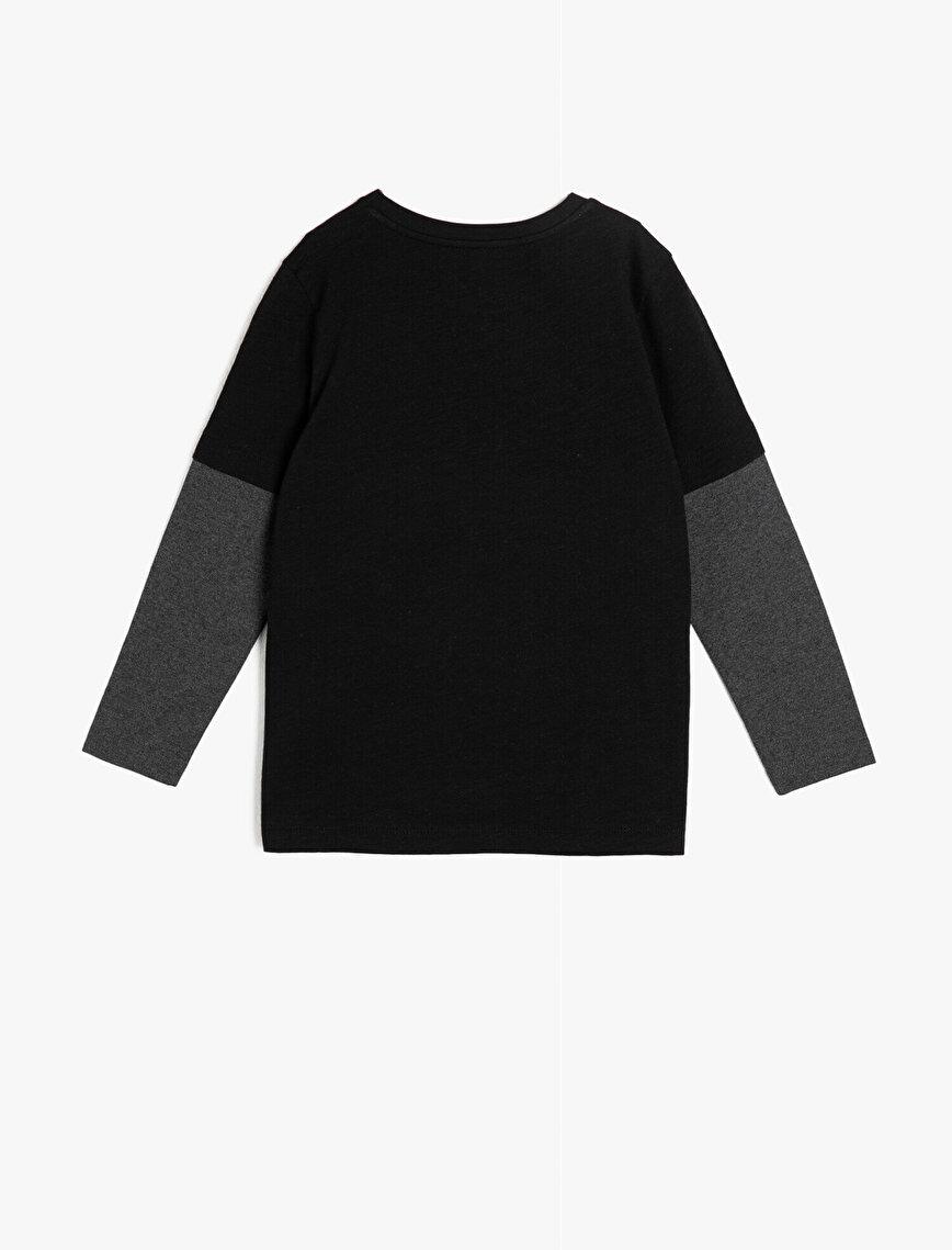 Star Wars Lisanslı Pul Detaylı Sweatshirt