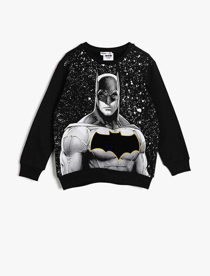 Batman Lisanslı Baskılı Sweatshirt
