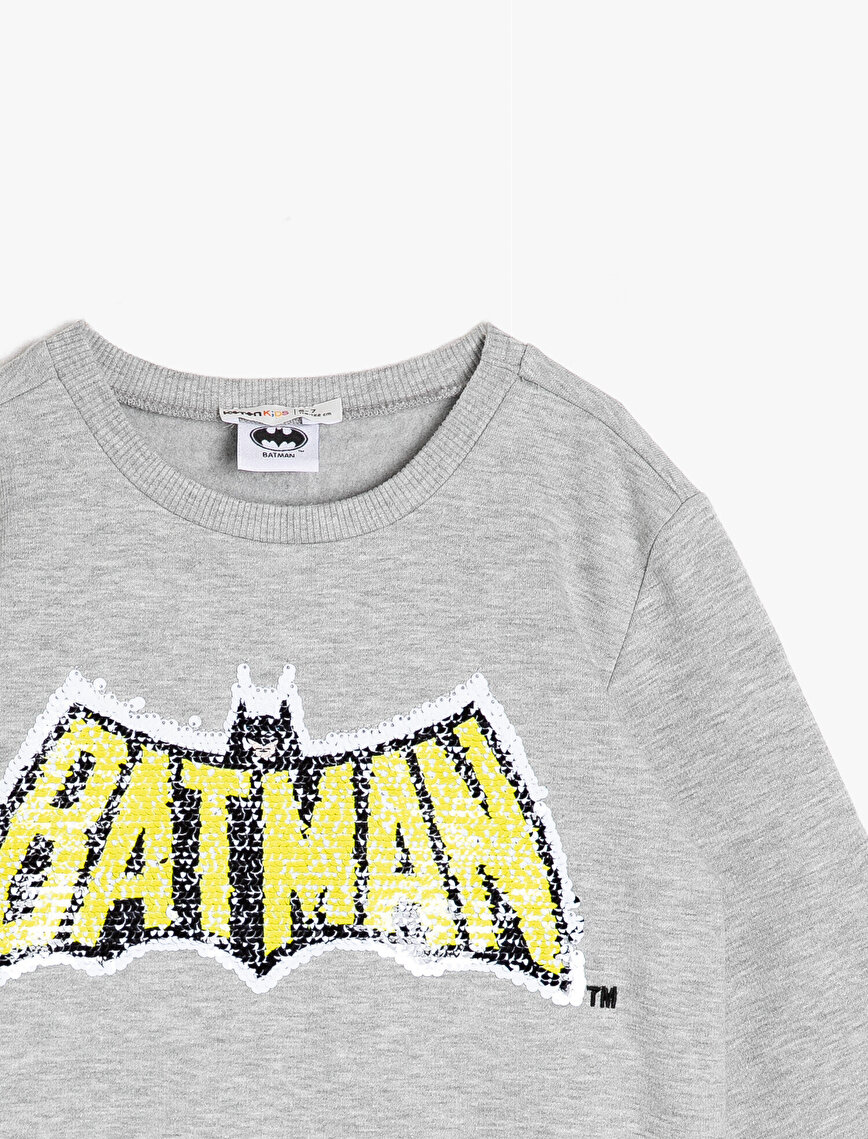 Batman Licensed Sequin Detailed Sweatshirt