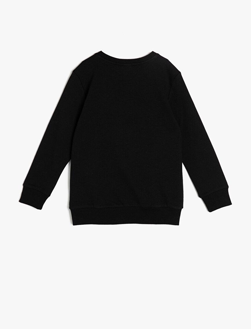Batman Lisanslı Yazılı Baskılı Sweatshirt