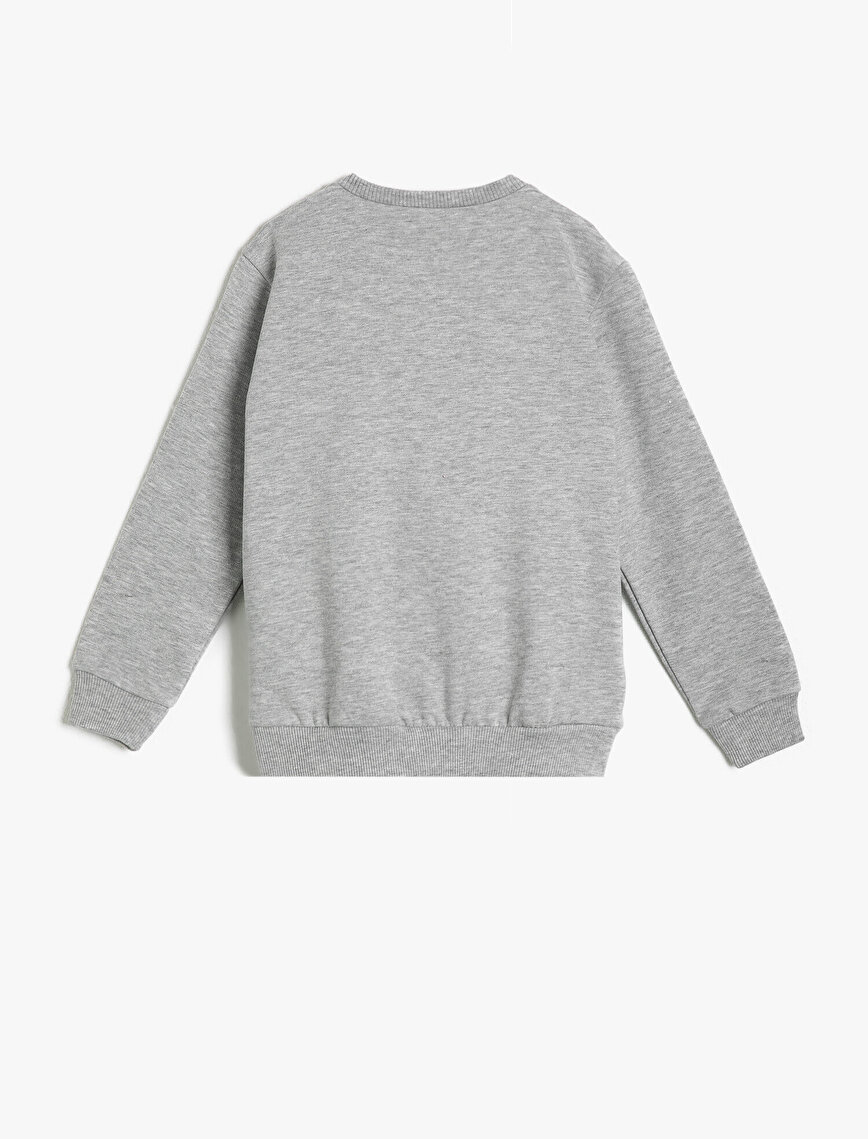 Yazılı Baskılı Sweatshirt
