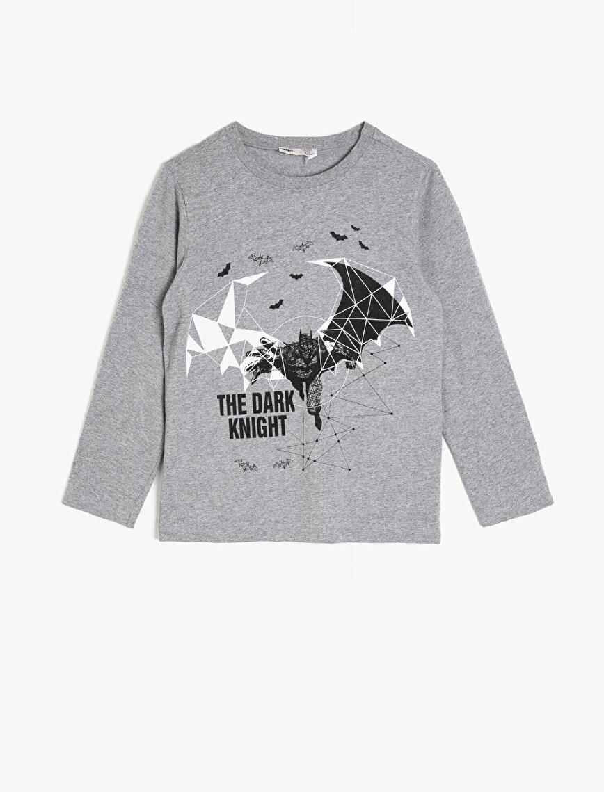 Batman Lisanslı Baskılı T-Shirt