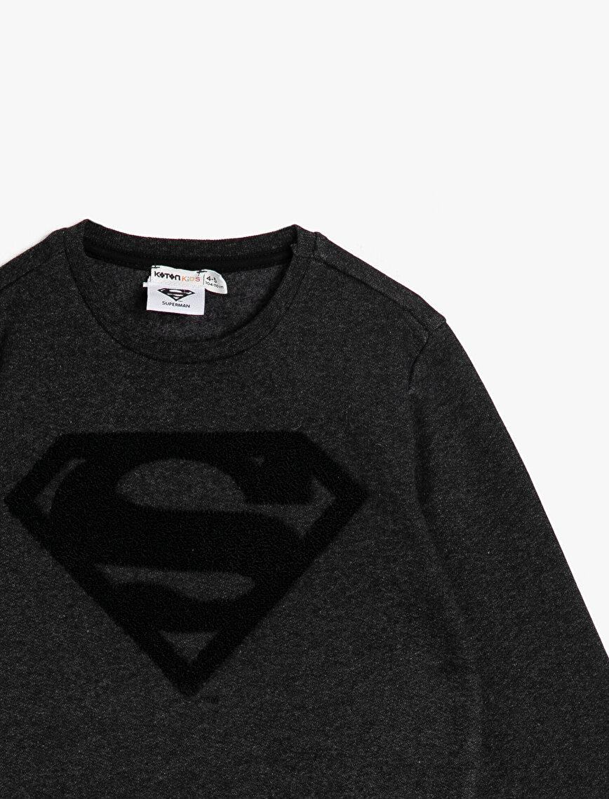 Superman Lisanslı Sweatshirt