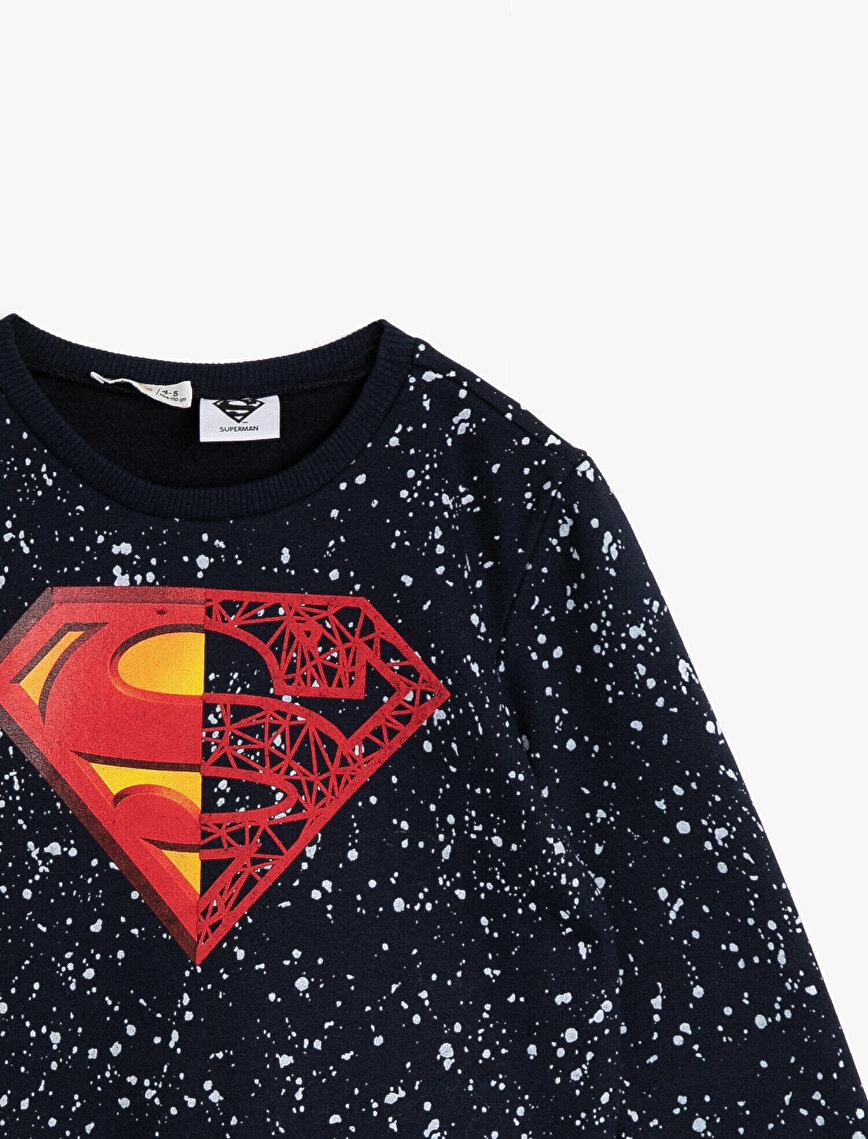 Superman Lisanslı Baskılı Sweatshirt