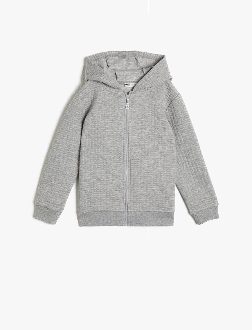 Zipper DetailedSweatshirt