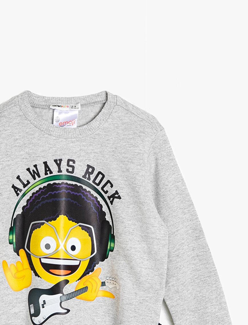 Emoji Lisanslı Sweatshirt
