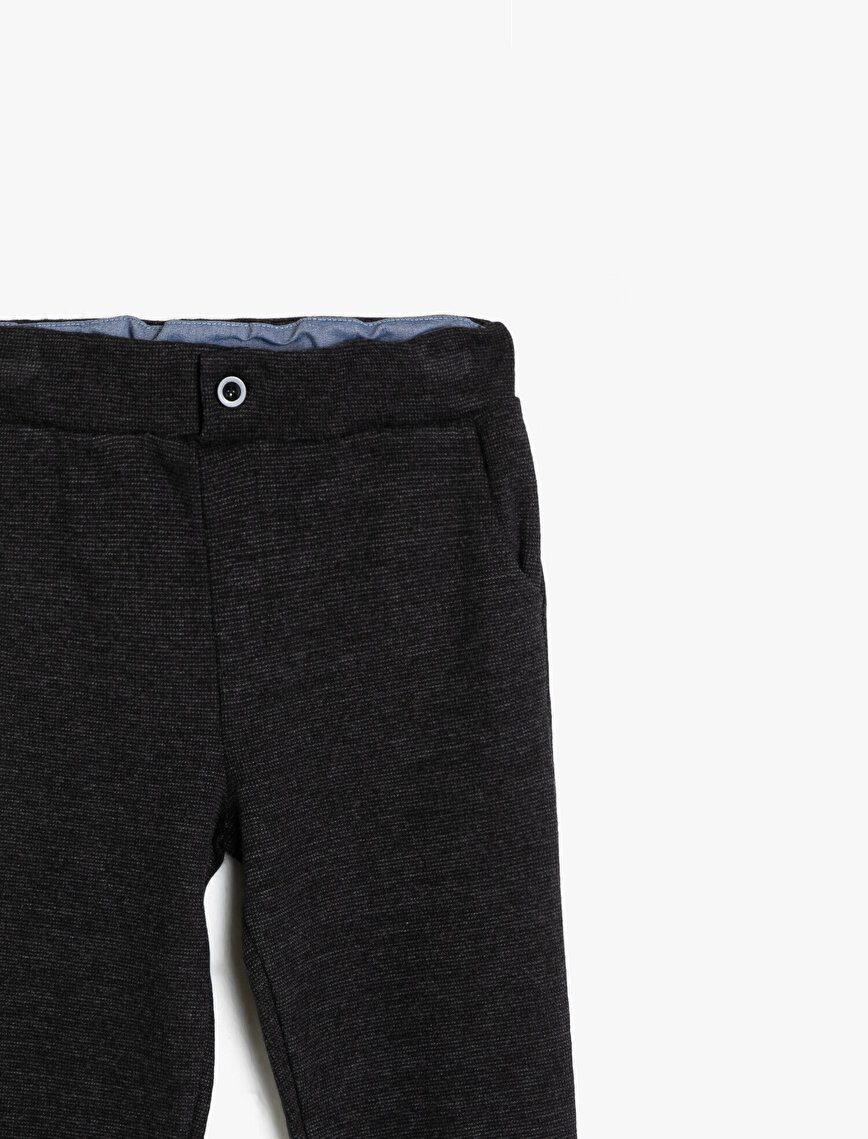 Button Detailed Jogging Pants