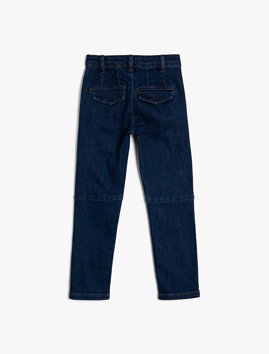 Pocket Detaiked Jean Trousers