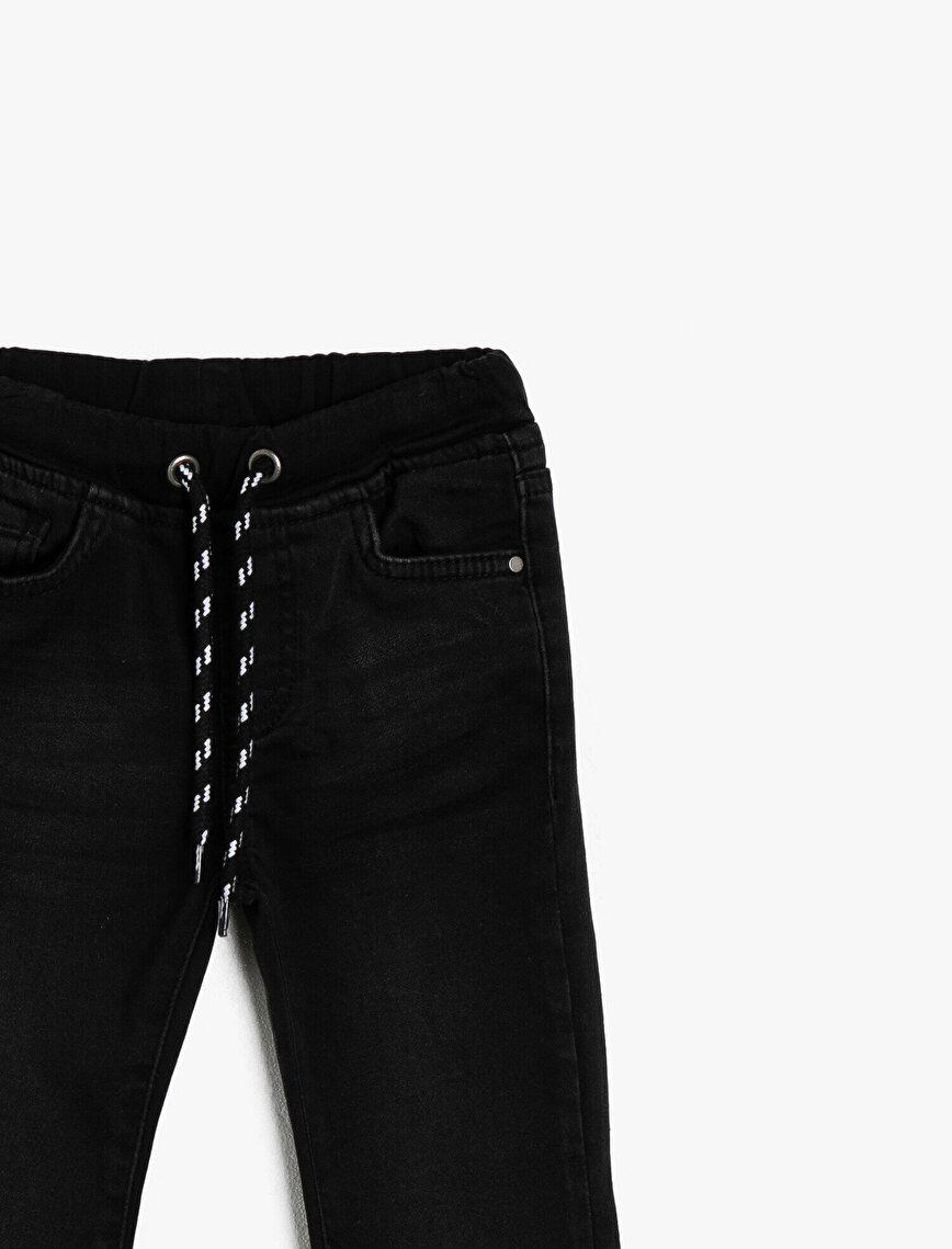 Tie Waist Jean Trousers