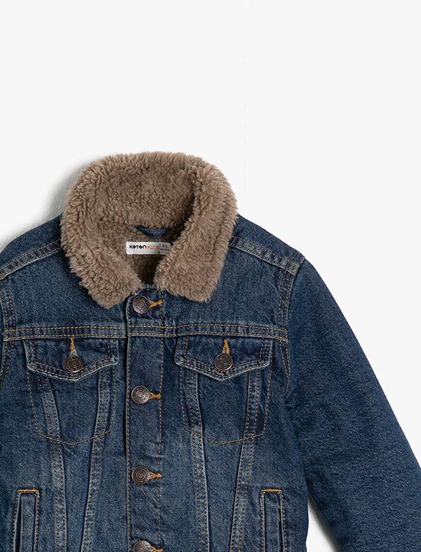 Faux Fur Detailed Jean Jacket