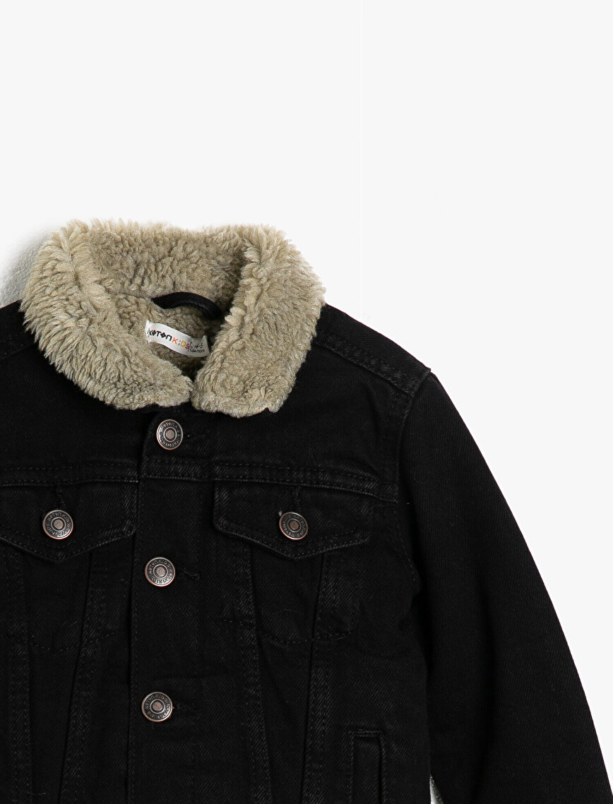 Faux Fur Detailed Jean Jacket