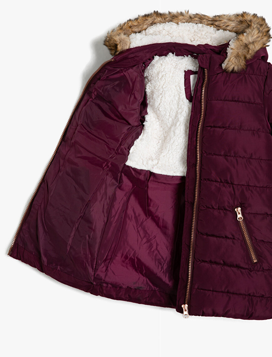Faur Fux Detailed Puffer Coat