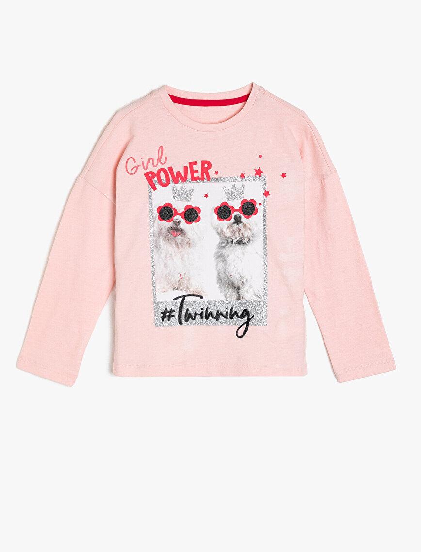 Koton Kids Love Yazılı Baskılı T-Shirt