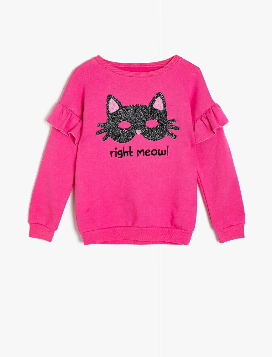 Koton Kids Love İşlemeli T-Shirt