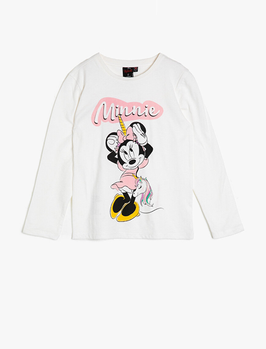 Minnie By Koton Lisanslı Baskılı T-Shirt