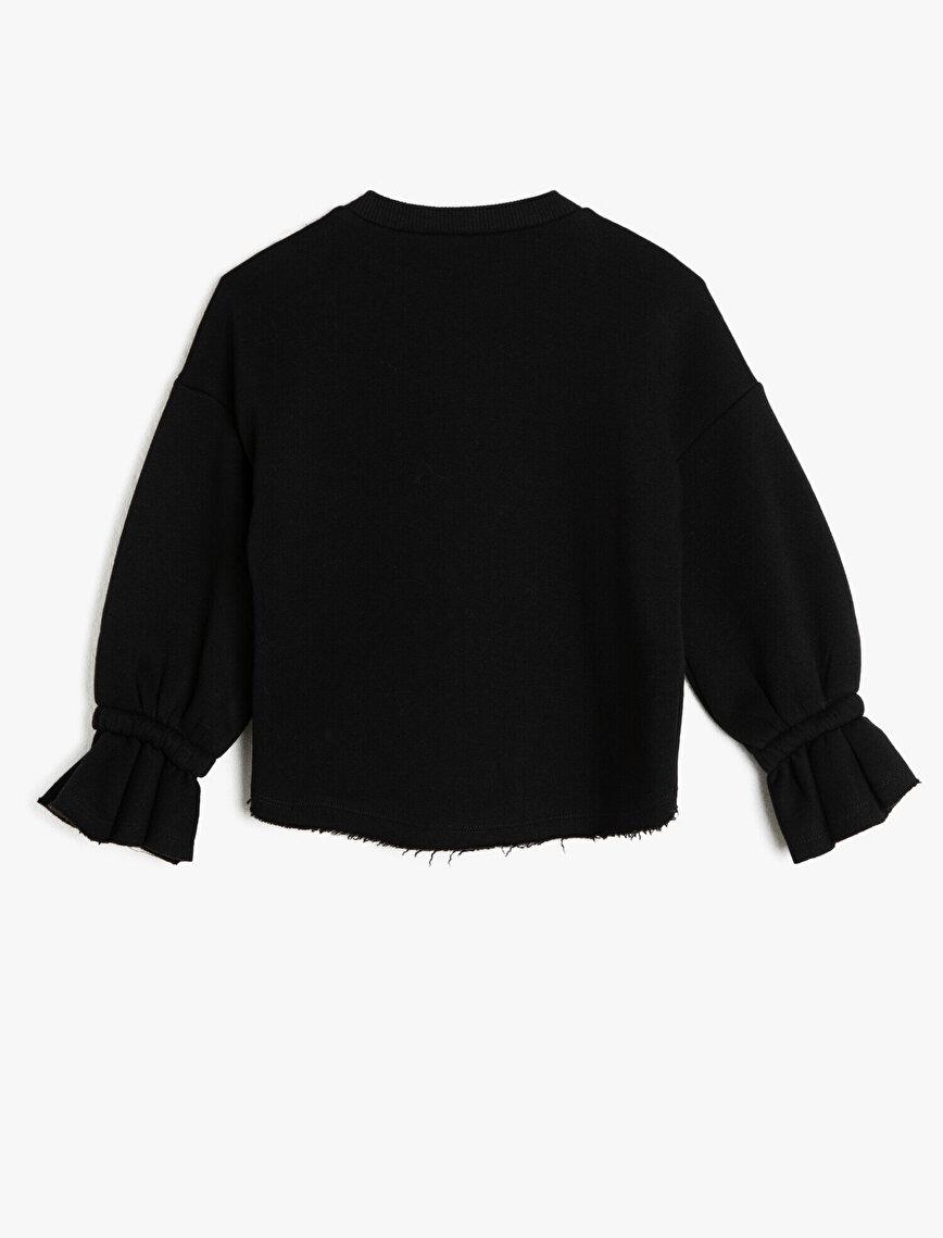 Yazılı Baskılı Baskılı Sweatshirt