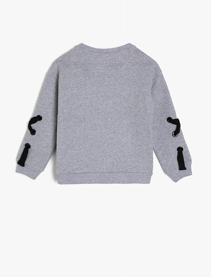 Eyeled Detailed Sweatshirt