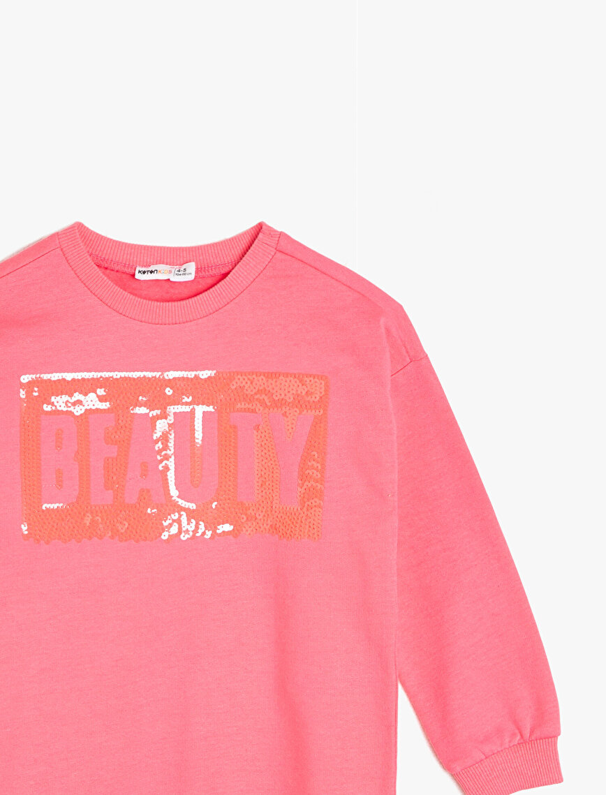 Sequin DetailedSweatshirt
