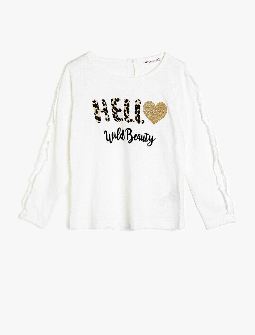 Kol Detaylı T-Shirt