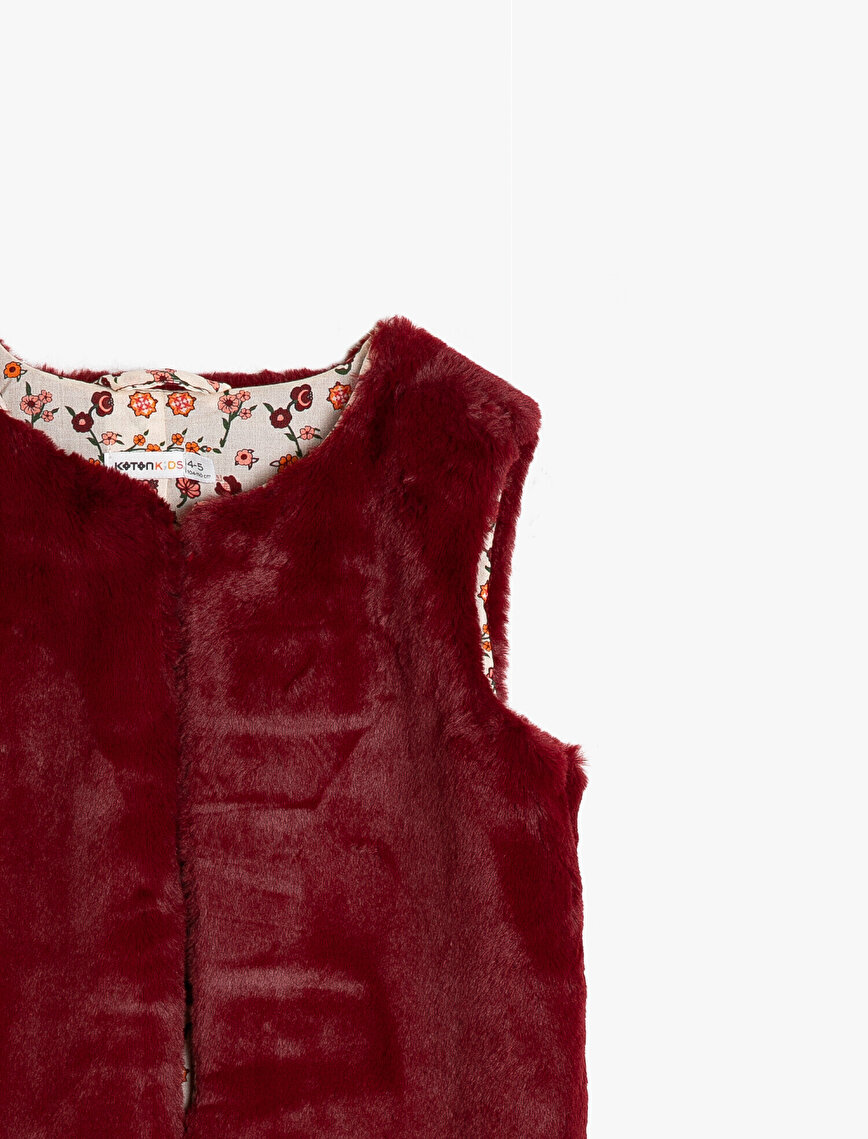 Faux Fur Detailed Vest
