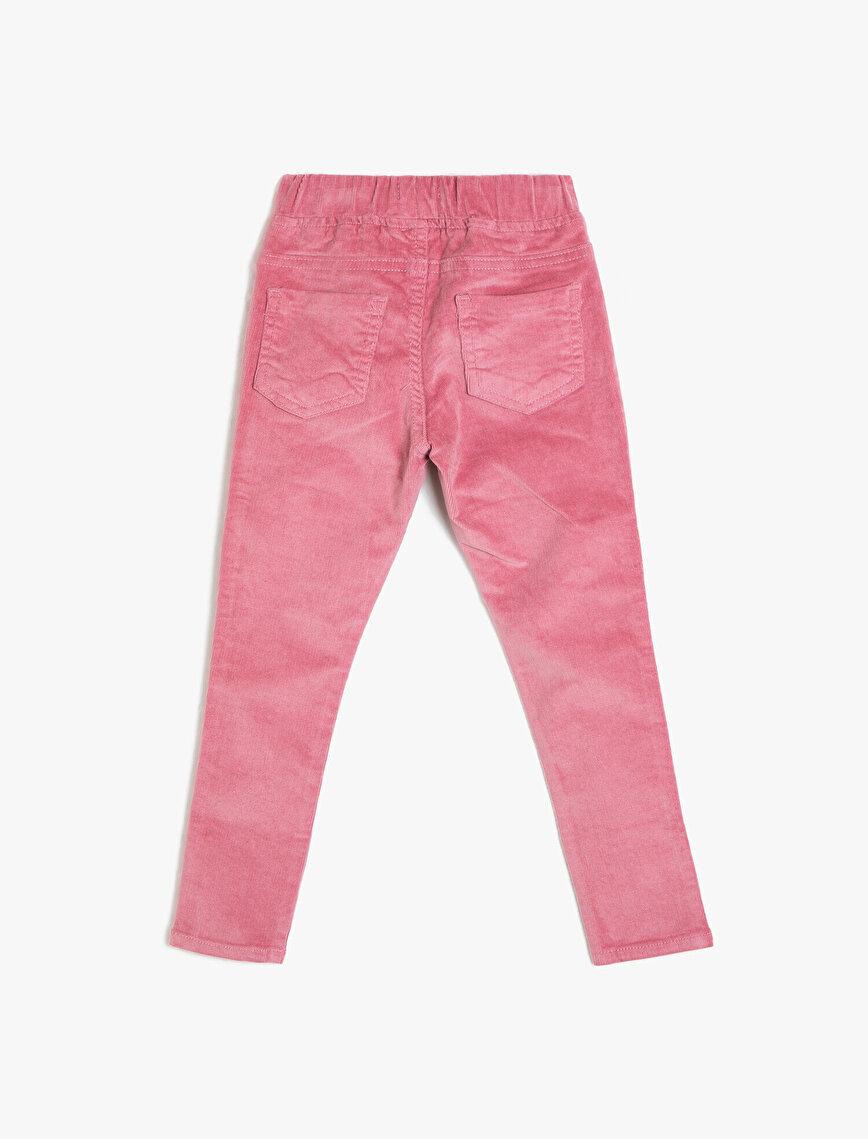 Cep Detaylı Kadife Pantolon